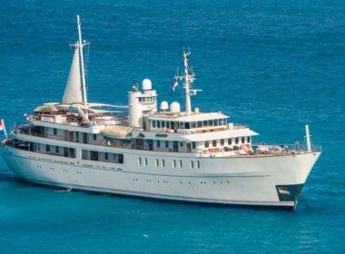 sherakhan yacht drone shot
